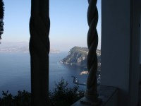 View over the sea and Capri's coast from Villa San Michele