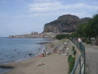 A tourist guide to the town of Cefalu, Sicily