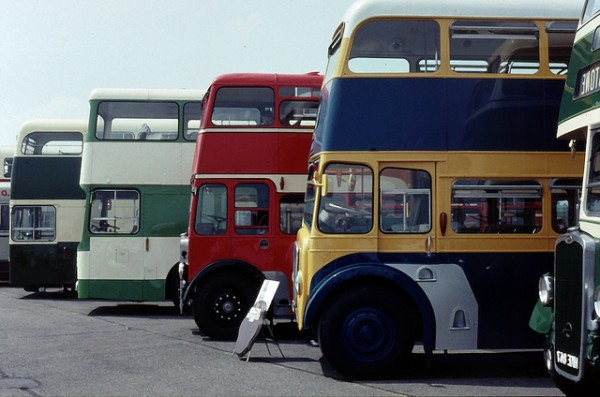Double-deck buses, ©Elsie esq./Flickr