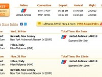 United Airlines flight from New Jersey to Milan from $615