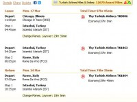 Thy Turkish Airline flight from Chicago to Rome under $1000